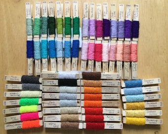 Paintbox yarn pegs.  Full set of yarn pegs, all 60 colours. Perfect project planning tools.