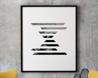 Minimalist Poster, Geometric Poster Art, Minimalist Geometric Print, Minimalist Geometric Art Printable, Scandinavian Printable Art Print