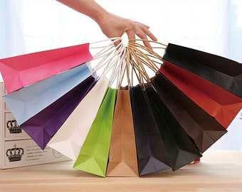 Paper Bags, Kraft Paper Bags with Handle, Small, Medium, Big size