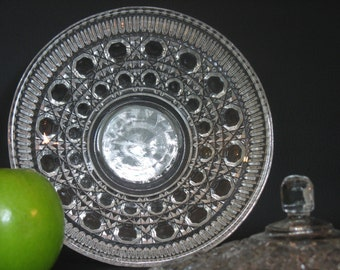 Button and Cane Glass Candy Dish by Federal Glass, Windsor