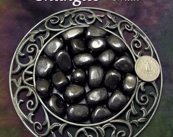 Shungite (small) tumbled stone for crystal healing