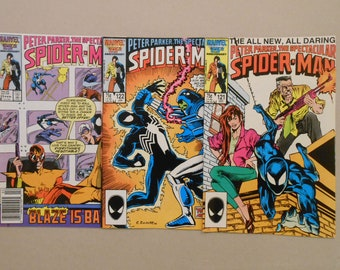 Spider-Man #122- #123; Black Suit; Venom costume; Black Cat; Mary Jane; Early Peter David Scripts; Mauler; High Grades!