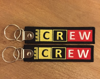 """Keychain Keyring """"Remove Before Flight"""" etched CREW numbered engraved numbered crew pilot airplane aviation stewart stewardess staff"""