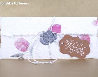 Long gift certificate request er filler (silver, roses, floral)