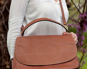 Cowhide messenger bag type made in Italy