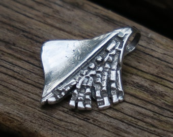 Sterling Silver Pendant, Artisan Pendant, Silver Pendant, Handmade Pendant, Birthday Gift, Nature Pendant, Pendant, Oxidized Silver Pendant