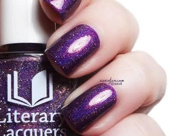 Soul Within Me Burning - Warm Purple Holographic nail lacquer