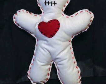 Love Me Voodoo Doll Handcrafted Muslin Plush Doll