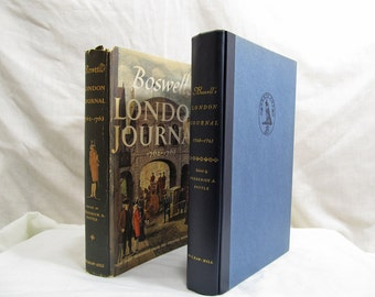 Boswell's London Journal 1762-1763, by Boswell,  McGraw-Hill, New York (1950) BCE Hardcover First Edition Yale University Antique Book