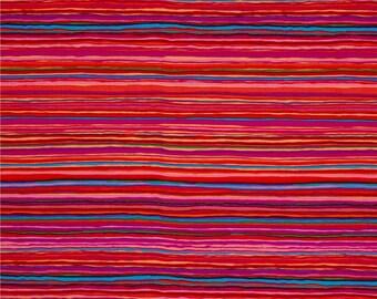 Kaffe Fassett for Rowan and Westminster Fibers - Strata - Red - 1/2 Yard Cotton Quilt Fabric 516