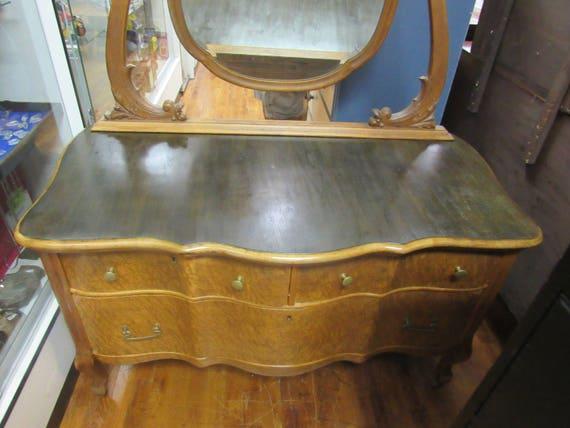 Birdseye Maple Dresser and Mirror