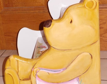 Escabeaux, Teddy bear escabeau, personnalisé, les enfants, les tout-petits étape tabouret, banc, salle de bain, chambre d'enfant, ours en peluche côtés sur mesure en bois, découpe,