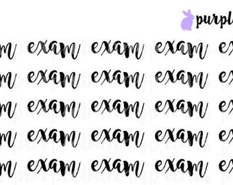 Exam // Word Collection // Planner Stickers!