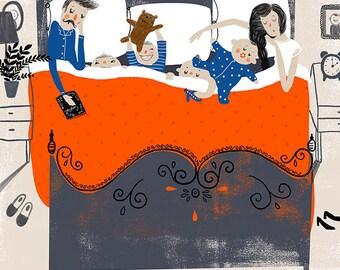 Co-Sleeping Giclee Print