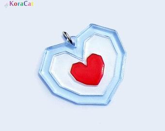 Zelda Heart Piece Necklace Keychain (40mm)