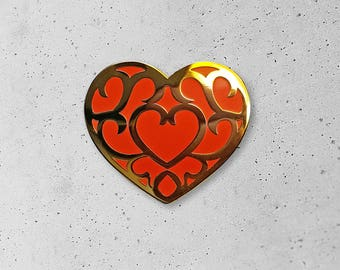 Heart Container / Breath of the Wild / BOTW / Heart / Level Up / Legend of Zelda / Link / Hat Pin / Lapel Pin / Hard Enamel /  Pin