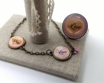 LOVE jewelry bronze
