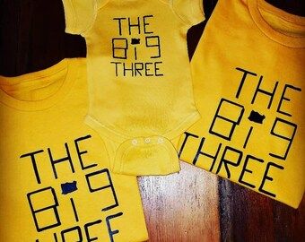 The Big Three tee 3-Pack (any combo b/w tees and onesies)