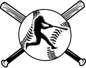 Baseball Logo #23 Player Tournament Ball Bat League Equipment School Team Game Field Sport Logo.SVG .EPS .PNG Vector Cricut Cut Cutting File