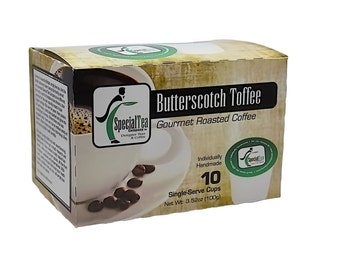 Butterscotch Toffee, Single Serve Arabica Coffee Cups (10 count)