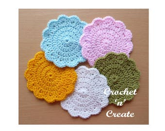 Circular Coaster Crochet Pattern (DOWNLOAD) CNC28