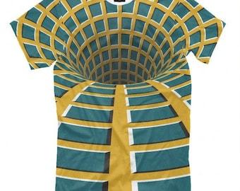 Optical Illusion Print T-Shirt