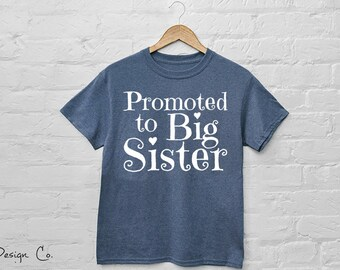 Promoted to Big Sister Iron On Decal