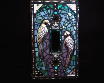 Silver Parrots Switchplate