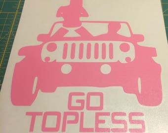 Go Topless Decal