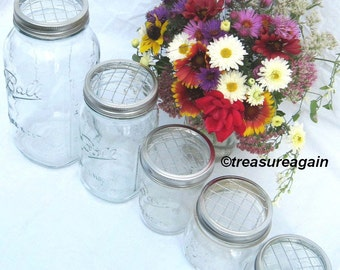 Wedding Flowers Wide Mason Jar Flower Frog Lids, DIY Centerpieces, Flower Arrangements Wide Mouth Mason Jar Lids Only, No Jars