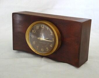 Vintage Westclox Baby Ben Mahogany Alarm Clock - Canada 1964