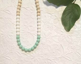 """Various Colors* Silicone Teething Necklace, BPA Free, Food-grade Materials // """"The Blake"""""""