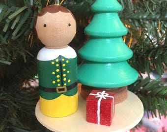 Buddy the Elf Christmas ornament - Christmas ornament exchange gift