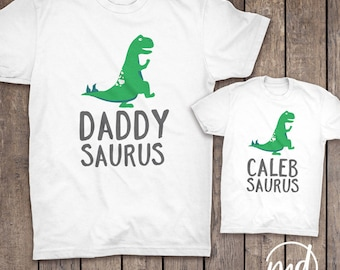 Dad And Son Matching Outfits, Father Son Matching Dinosaur Shirts, Fathers Day Matching Shirts, Daddysaurus Personalized Dinosaur Shirt