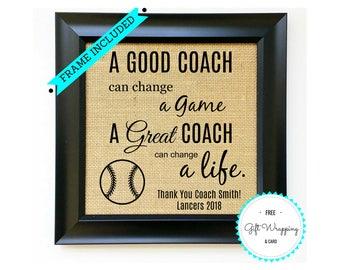 BASEBALL COACH Gift from Team - BaseBall Coaches Gift - Thank You Gift from Team - Team Gift Ideas - End of Year Gift - End of Season