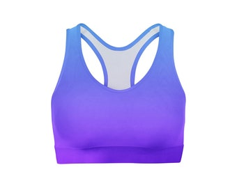 Blue Purple Ombre Sports Bra
