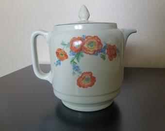 HALL'S  Orange Poppy Large Coffee Pot RARE