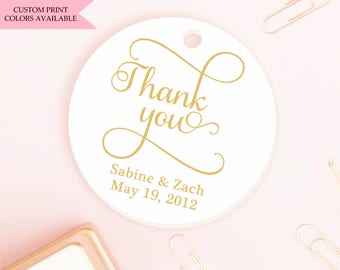 Thank you tags (30) - Wedding thank you tags - Wedding tags - Wedding gift tags - Wedding favor tag