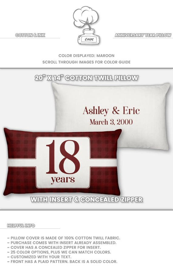 18th Anniversary Gift for Men 18 Year for Women Present Idea