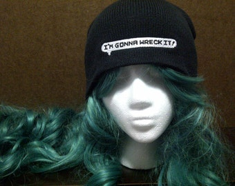 "Wreck-it-Ralph inspired ""I'm Gonna Wreck It"" beanie skull cap"