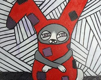 I'm SOCKED- Sock bunny painting