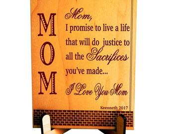 Gift for Mom - Gifts for Mothers Day from Son - Daughter - Personalized Mom Birthday Gift - Mother's Day Gift, PLM017