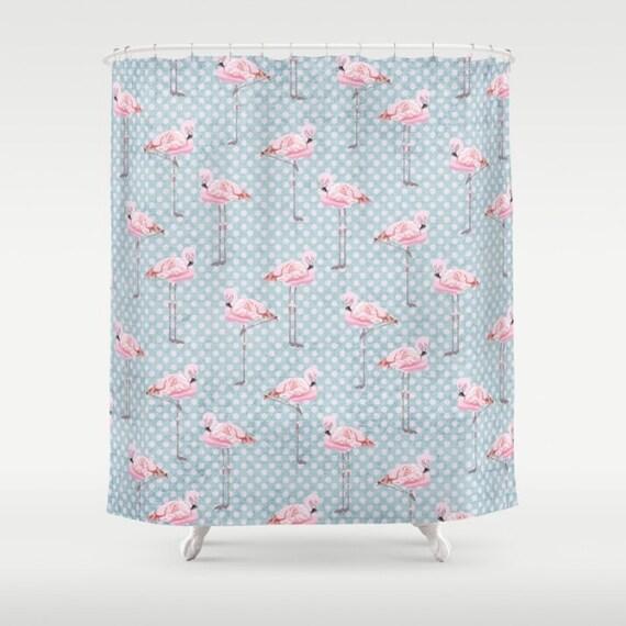 rideau de douche flamant rose