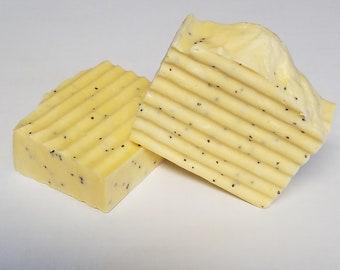 Lemon Poppy Seed Homeade Exfoliating Soap