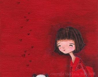 A Tiny Friend Original 5 x 7 Painting