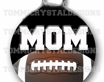 "1.5"" Football MOM Soldered Art Collage Charm (also comes with no wording)"