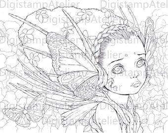Forest Enchantment. INSTANT DOWNLOAD Digital Digi Stamps.
