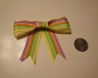 Neon Striped Bow