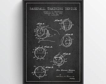 1963 Baseball Training Device Patent Wall Art Poster, Baseball Decor, Baseball Print, Baseball Poster, Home Decor, Gift Idea, SPBA08P