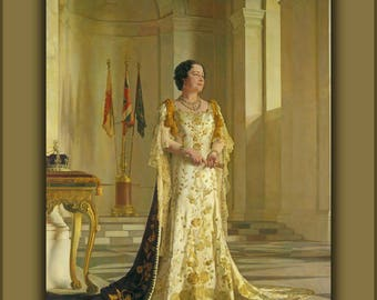 Poster, Many Sizes Available; Queen Elizabeth The Queen Mother Sir Gerald Kelly